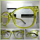 Classic Vintage Retro Style RX Able READING GLASSES READERS Green Optical Frame