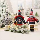 Christmas Knitted Sweater Wine Bottle Sack Cover Dining Table Decoration BIN