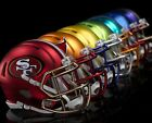 PICK YOUR TEAM HELMET SHAPED STICKER, NFL BLAZE,QLTY LARGE VINYL DECAL 3x3 inchs on eBay