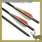Hunting Crossbow Bolts Carbon Arrows 20 Inch 1 Degree Right Rotated Easton Vanes