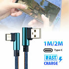 LOT Type C 90° Right Angle USB C 3.1 Fast Data Sync Charging Charger Cable Hot