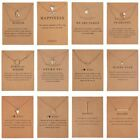 Fashion Women Animal Heart Necklace Charms Pendant Clavicle Chain Jewelry Card image