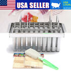 6/20pcs Stainless Steel Ice Cream Maker Molds Holder Popsicl Stick Holder DIY