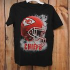 New NFL Kansas City Chiefs Youth Boys Red Dri Fit Cotton Team Logo T-Shirt S-XL $10.39 USD on eBay
