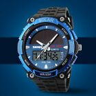 Fashion Men's Outdoor Sport Dual Time Military Solar Powered Digital Wrist Watch