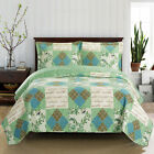 Ultra-soft & smooth Classic Patchwork Pattern 3-PC Davina Coverlet Quilt image