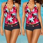 USA Women Tankini Sets Sporty with Boy Shorts Bikini Swimsuit Bathing Swimwear