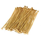 gold plated headpins 1.5 inch 21 gauge