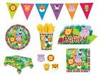Safari Animals JUNGLE FRIENDS Birthday Party - Tableware Decorations Supplies 1C