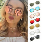 UV400 100% Men Women's Round Sunglasses Vintage Retro Oversized Mirror Glasses