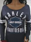 nwt Woman's HARLEY DAVIDSON *Power Curve* Open neck Long Sleeve Tee Shirt Top $55.36 CAD on eBay