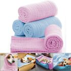 Pet Blanket Machine Wash Soft Cotton Dog Towel Warm House Mat Puppies Sleeping