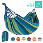 BCP 2-Person Brazilian Double Cotton Hammock for Outdoor, Indoor w/ Carrying Bag