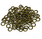 antiqued gold plated brass open jump rings 6mm 18 gauge