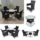5/9 Piece Garden Dining Set Poly Rattan Outdoor Furniture Table Chair Cushioned