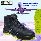 Apache Pegasus Safety Boots Composite Toecap Steel & Metal Free UK Sizes 3-13