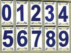 Mediterranean House Address Number Ceramic Tile Handmade Hand Painted