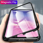 Magnetic Metal Glass Flip Back Case For Samsung Galaxy J8J6J4 2018 A7A8Plus A9S