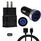 For Samsung Galaxy S10e S10 S9 FE Cell Phone Charger Car/Wall Plug Type-C Cable