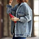 New Boyfriend Jeans Coat Retro Oversize Cowboy Women Denim Loose Casual Jacket