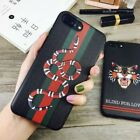 2Gucci2 Luxury Snake Cat for Apple iPhone 6 6S 7 8 Plus XS Max XR Case Cover