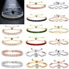 Luxury Women Zircon Cz Crystal Cuff Gold Bracelet Bangle Chain Wedding Jewelry