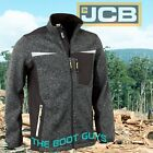 JCB Workwear Essington Full Zip Grey Marl Knit Jumper Fleece Soft Shell Jacket