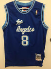 Kobe Bryant #8 Los Angeles Lakers Vintage Blue Throwback Men's Jersey
