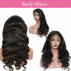 360 Lace Front Wigs Real Malaysian Human Hair Silk Top Full Lace Wig Straight 1B