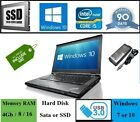 Fast Cheap Lenovo T430 Core i5 Laptop 4Gb / 8Gb / 16Gb RAM HDD / SSD Windows 10