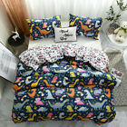 Printed Soft Bedding Set Quilt Duvet Cover Pillow Cases Twin Queen King All Size