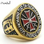 MENDEL Knights Templar Ring Freemason Masonic Gold Cross Sword Stainless Steel