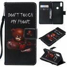 Little bear PU Leather Wallet Case Flip Cover Stand Card Slot For All Phones LG