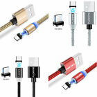 Magnetic Type-C for Lightning Micro USB Fast Charging Sync Adapter Cable Charger