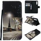 Cityscape PU Leather Wallet Case Flip Cover Stand Card Slot For All Phones LG