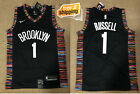 NWT Brooklyn Nets D'Angelo Russell #1 mens black jersey S-2XL high qualit jersey on eBay