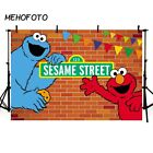 MEHOFOTO Sesame Street Bricks Wall Backdrops Elmo World Birthday Party Custom