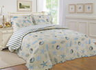 ALL FOR YOU Reversible Bedspread, Coverlet,Quilt *109*  Shell, Starfish Prints image