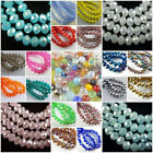 Wholesale Crystal Faceted Rondelle Glass Spacer Loose Beads Diy Jewelry Making