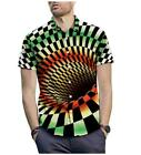 Hypnosis Swirl 3D Shirt Print Fashion Mens Casual Short Sleeve Graphic Tee Tops