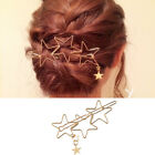 1X Hairpin Hollow Metal Five-Pointed Star Hairpin Simple Ladies Hair Accessories