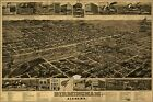 Poster, Many Sizes; Birdseye View Map Of Birmingham, Alabama 1885