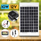 10W 12V Poly Flexible Solar Panel+Cable+Controller For Motorhome Boats CAR Roof