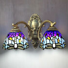 Modern Tiffany Style Wall Sconce Fixture Retro Stained Glass Wall Lighting Lamp