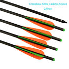 22 inch Carbon Crossbow Bolts Bio with 4-Inch Vanes Practice Arrows Hunting