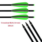 Crossbow Bolts Fiber Carbon Aluminum Arrows 20Inch for Outdoor Bow Hunting