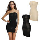 Women Full Body Slip Shaper Tube Top Bodycon Under Dress Body Slimmer Mini Dress