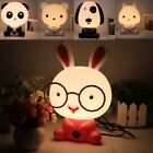 Cute Baby Kid Bedroom School Desk Night Light Dog Bunny Cartoon Animal Lamp