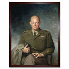 Thomas Edgar Stephens Dwight D Eisenhower Art Print Framed 12x16