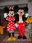 Handmade Adult Mickey and Minnie Mouse Couple Mascot Costume Fancy Dress Party A